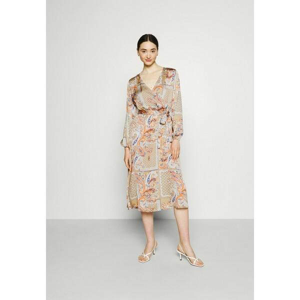 Vila VIJOSE BLUME MEDI TIE DRESS Sukienka letnia sandshell V1021C2AV