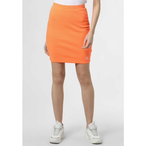 Calvin Klein Jeans SLUB MINI SKIRT Spódnica ołówkowa orange C1821B03P