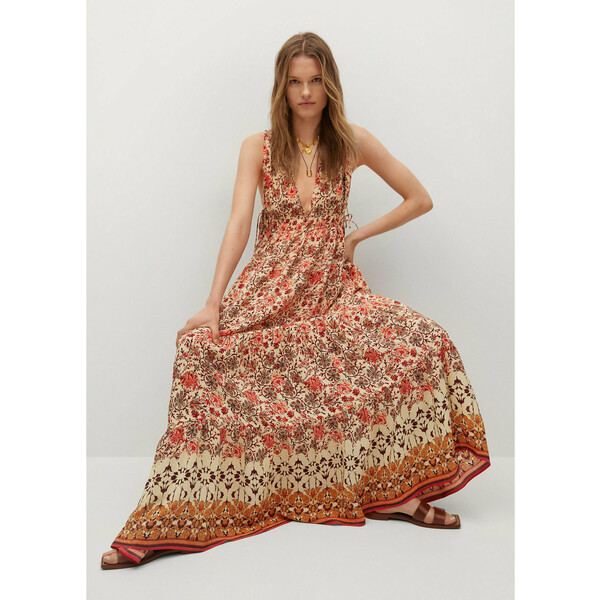 Mango Sukienka letnia Saffron 17060173 Pomarańczowy Relaxed Fit