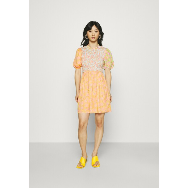 Never Fully Dressed Petite VINTAGE MINI SWEDISH DRESS Sukienka letnia orange NEZ21C018