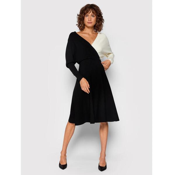 Blugirl Blumarine Sukienka dzianinowa RH1121-MA08A Czarny Regular Fit