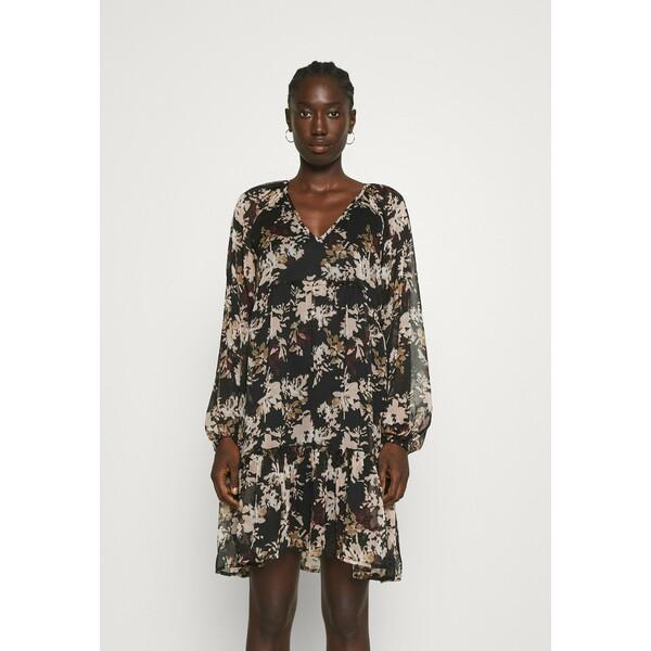 Vero Moda VMFRIDA V NECK SHORT DRESS Sukienka letnia black VE121C33P