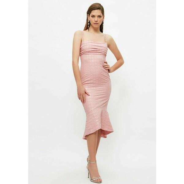 Trendyol Sukienka koktajlowa pink TRU21C0Q5