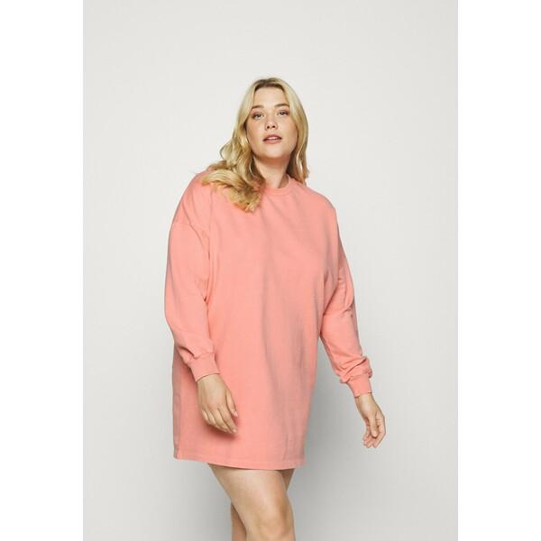 Simply Be ACID WASH BALLON SLEEVE DRESS Sukienka letnia pink SIE21C08P