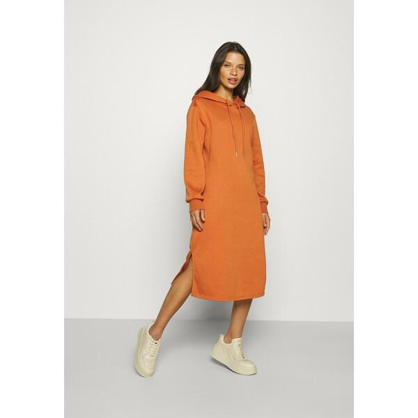ONLY Petite ONLINC JOEY EVERY HOODIE DRESS Sukienka letnia bombay brown OP421C0AT