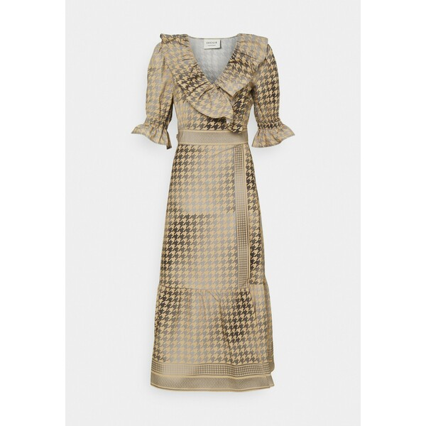 CECILIE copenhagen RUBY WRAP DRESS Sukienka koktajlowa frost grey CEC21C031