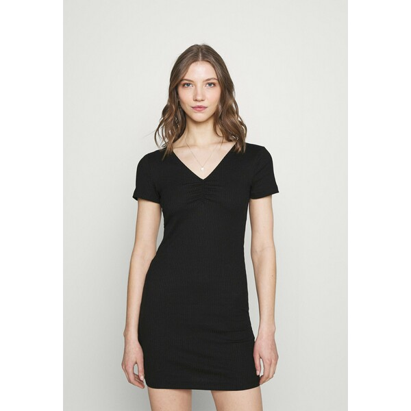 Vila VICARISU SHORT DRESS Sukienka z dżerseju black V1021C2H5