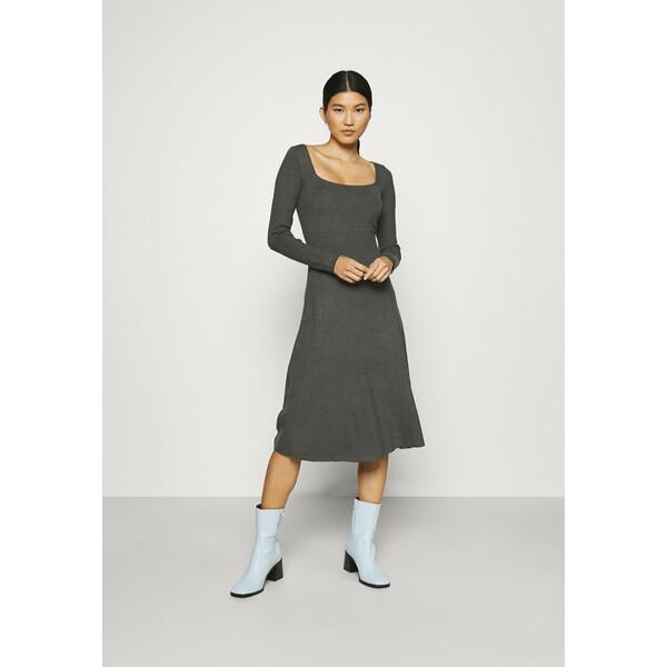 Anna Field Sukienka dzianinowa mottled dark grey AN621C1OL