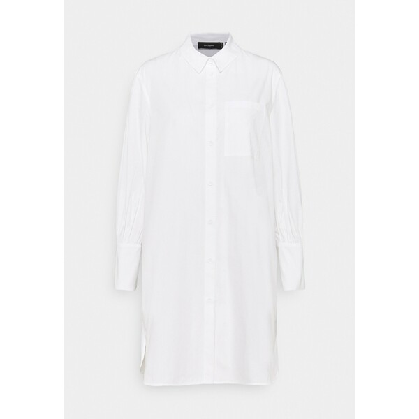 NU-IN KIRA X NU IN LONG LINE SHIRT DRESS Sukienka koszulowa white NUF21C01V