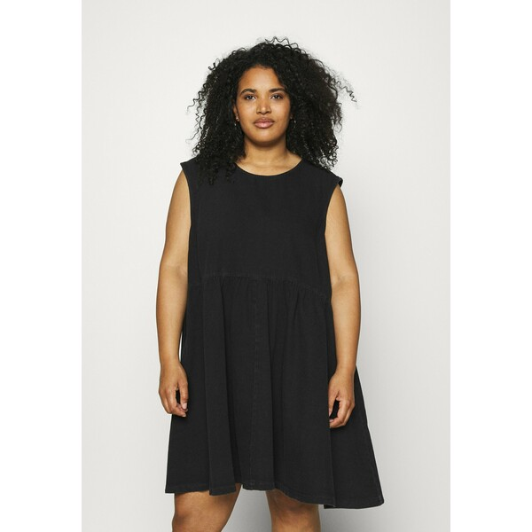 Noisy May Curve NMCAROLINA DRESS Sukienka jeansowa black NOY21C00N