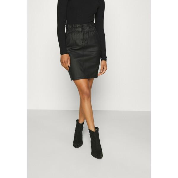 ONLY Tall ONLBILLI COATED SKIRT Spódnica ołówkowa black OND21B026