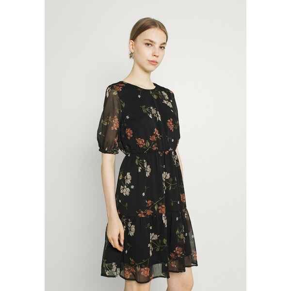 Vero Moda VMKEMILLA Sukienka letnia black/sallie VE121C2T6