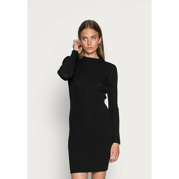 Calvin Klein TECHNICAL DRESS Sukienka dzianinowa black 6CA21C04L