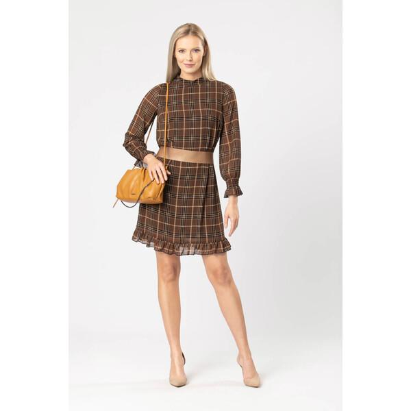 Quiosque Sukienka w kratkę z taśmą 4KE020126