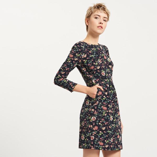 d83d506ecb Reserved Sukienka w kwiaty QP009-MLC - MojeSukienki.pl