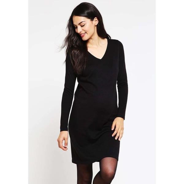6f2685f16 Zalando Essentials Maternity Sukienka dzianinowa black ZX029FA07 ...