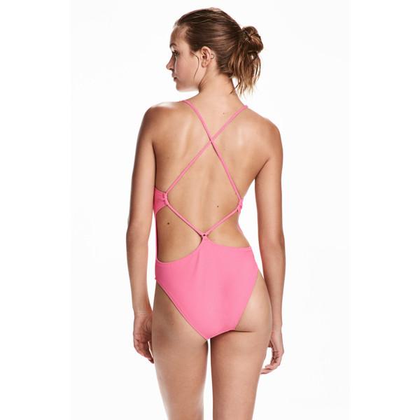 H&M Kostium kąpielowy 0471906002 Różowy