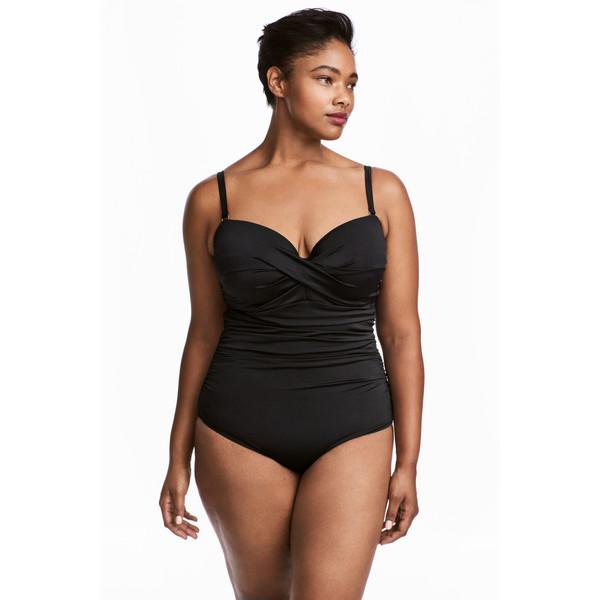 H&M H&M+ Kostium kąpielowy 0455940004 Czarny