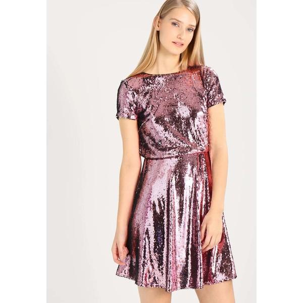TFNC THEA MINI SKATER Sukienka koktajlowa pink/silver TF121C0ED
