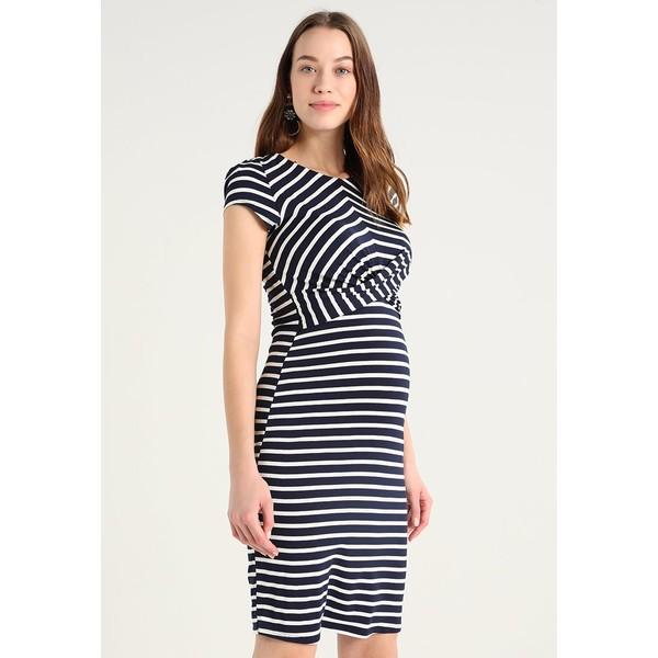 Envie de Fraise AUDREY Sukienka z dżerseju navy blue/off white EF329F04T