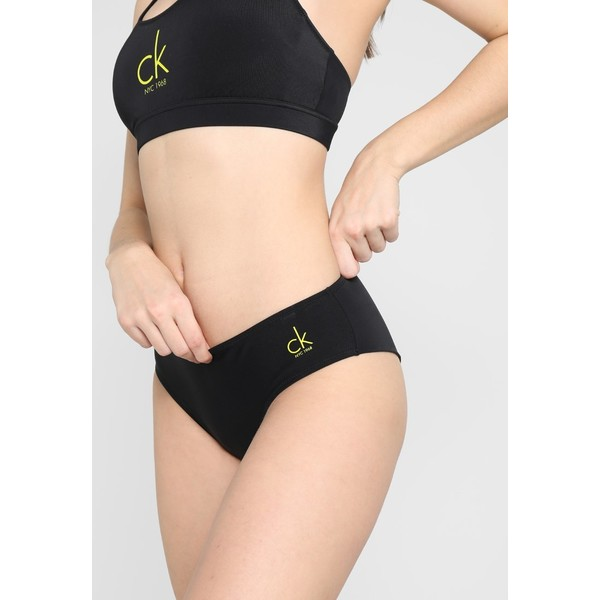 Calvin Klein Swimwear HIPSTER BRAZILIAN Dół od bikini black C1781I007